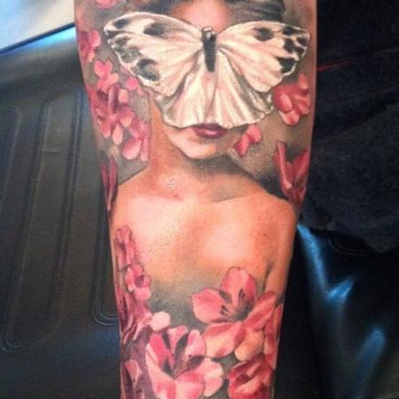 Tattoos - Damon Conklin Butterfly Woman - 131210
