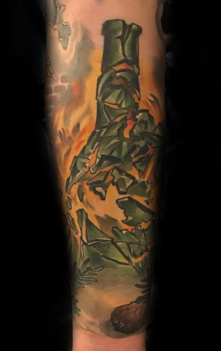 Tattoos - Damon Conklin Exploding Bottle - 131216