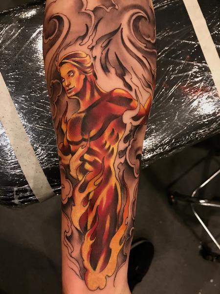 Tattoos - Damon Conklin Man On Fire - 131218