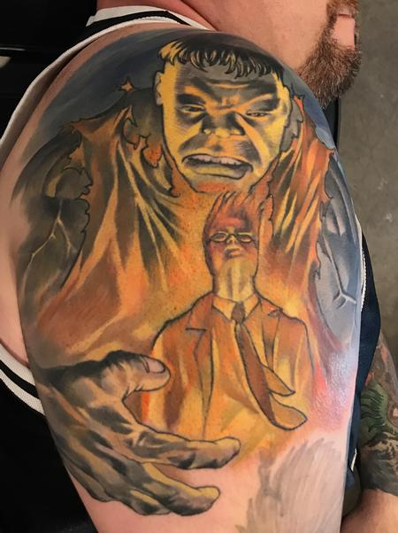Tattoos - Damon Conklin Hulk - 131229
