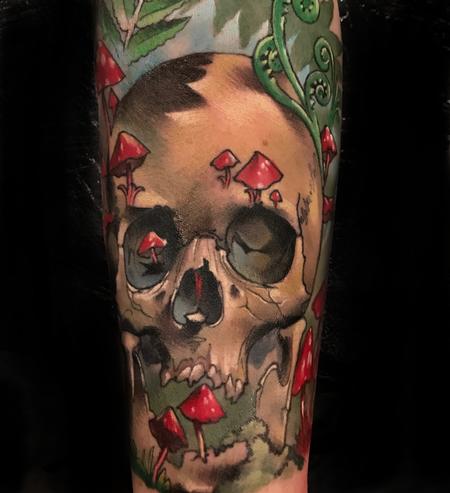 Tattoos - Damon Conklin Mushroom Skull - 131232
