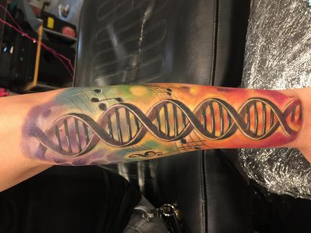 Tattoos - Damon Conklin Rainbow Music DNA - 131234