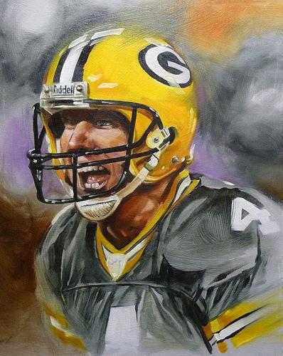 Damon Conklin - Football Player Painting