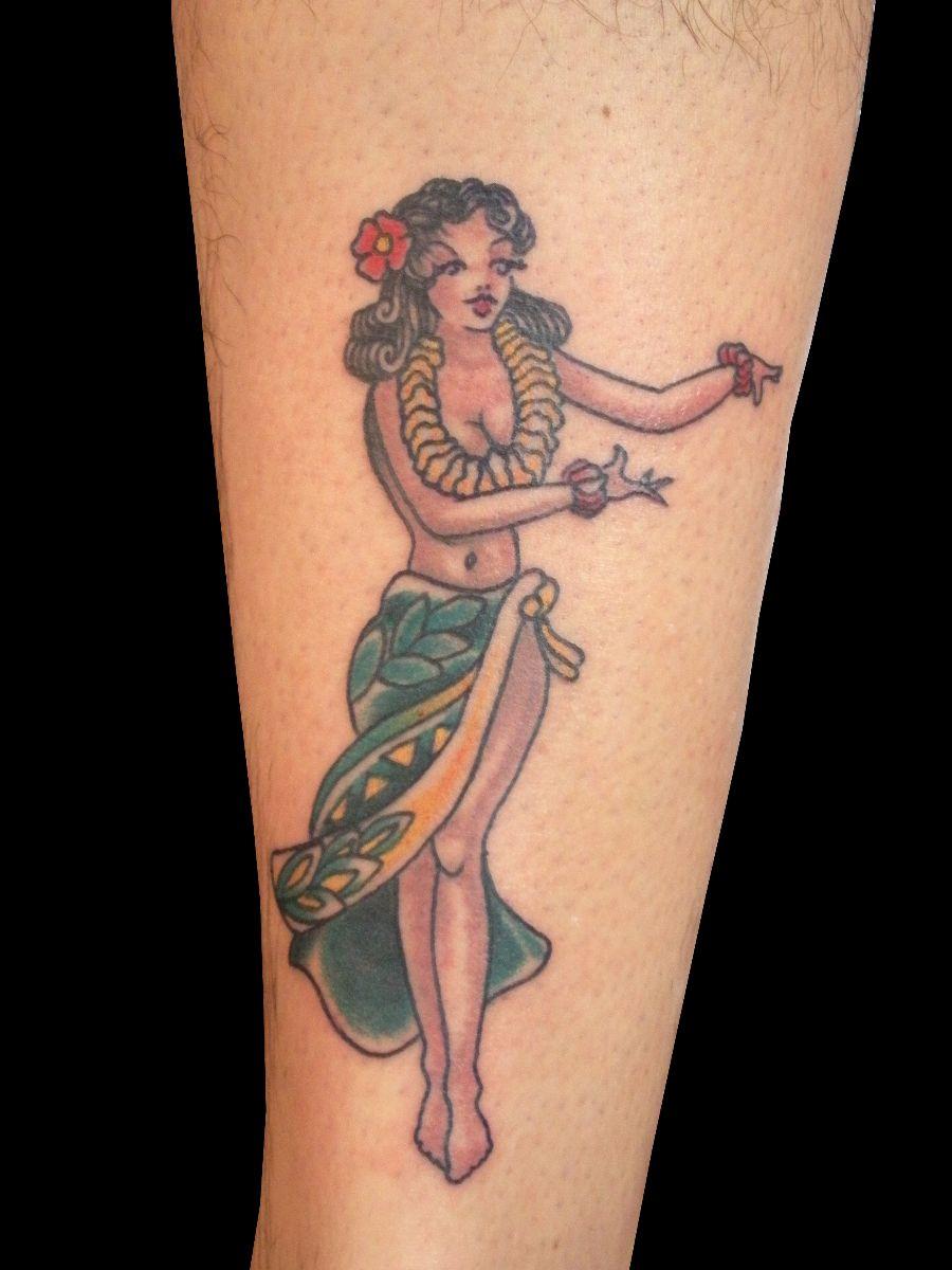 hawaiian hula girl by trevor kennedy sweet trade tattoo. Black Bedroom Furniture Sets. Home Design Ideas
