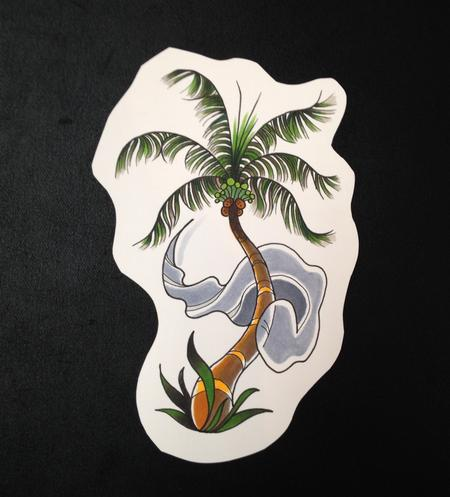 Tattoos - Ghost Palm Tree - 96406