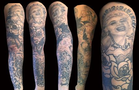 Tattoos - Marilyn Monroe sleeve. - 108984