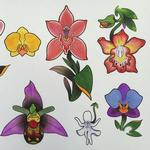 Tattoos - Orchid Flash - 101771