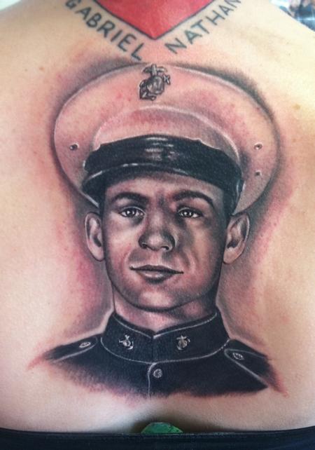Tattoos - 50's marine portrait by johnny smith - 68409
