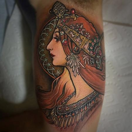 Tattoos - Mucha-inspired - 100440