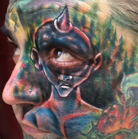 Tattoos - interactive cyclops on face - 93835