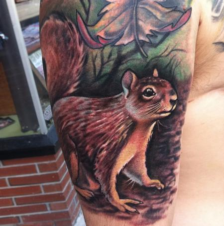 Tattoos - squirrel on arm - 79119