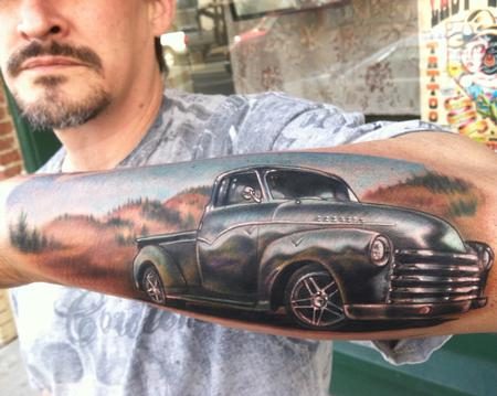 '54 Chevy Tattoo Design Thumbnail