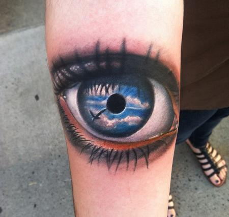 Tattoos - eye on forearm - 79120