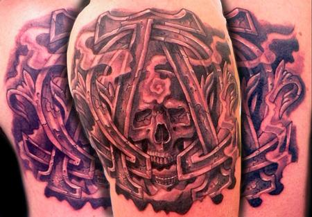 Tattoos > West Virginia > Page 2 > alpha and omege with a skull