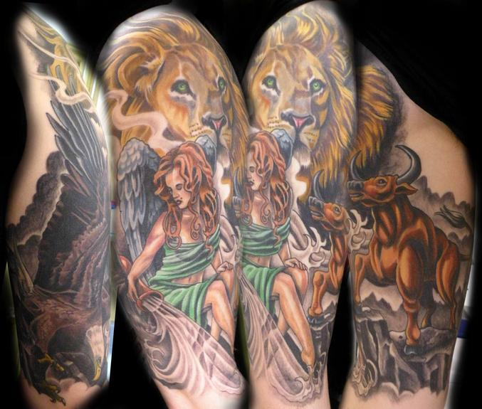 Tattoos - the Four corners of the zodiac - 53279