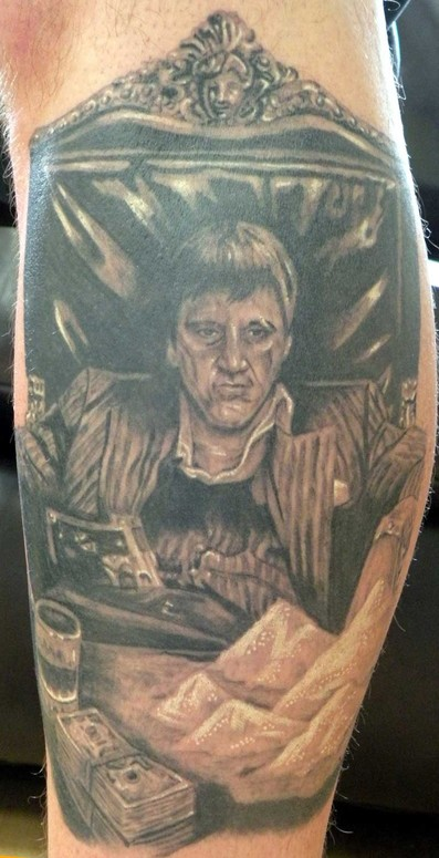 Scarface the world is yours statue tattoo for The world is yours tattoo