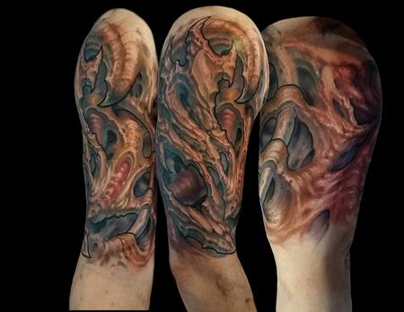 Tattoos - Splintered bone inspired biomech - 122211