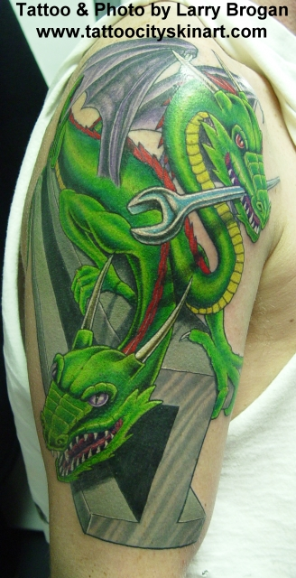 Larry Brogan - 2 Headed Ironworker Dragon