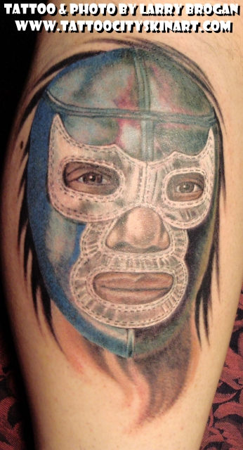 Tattoos - Lucha libre The Blue Demon - 22573