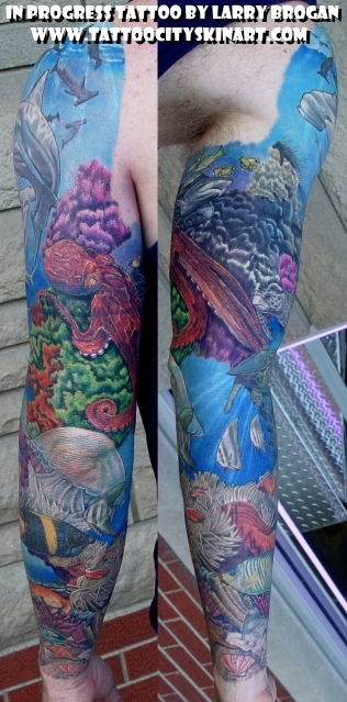 Tattoos - Underwater Sleeve - 22588