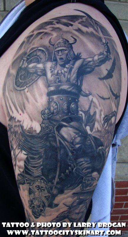 Tattoos - Detail of Frank Frazetta sleeve - 58683