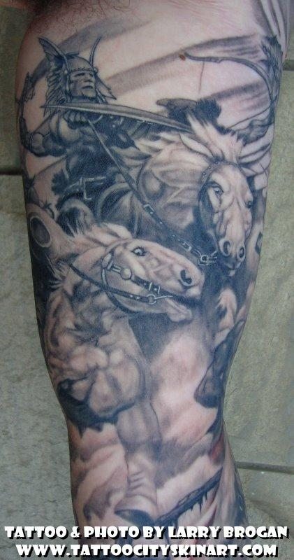 Tattoos - Detail of Frank Frazetta Sleeve - 58682