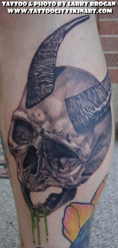 Tattoos - Horny Skull - 58673