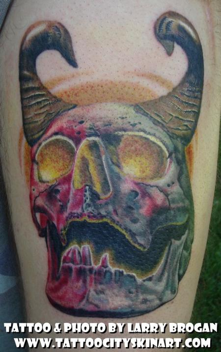 Tattoos - Horny Skull - 58672
