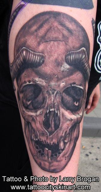 Tattoos - Horny Skull - 66804