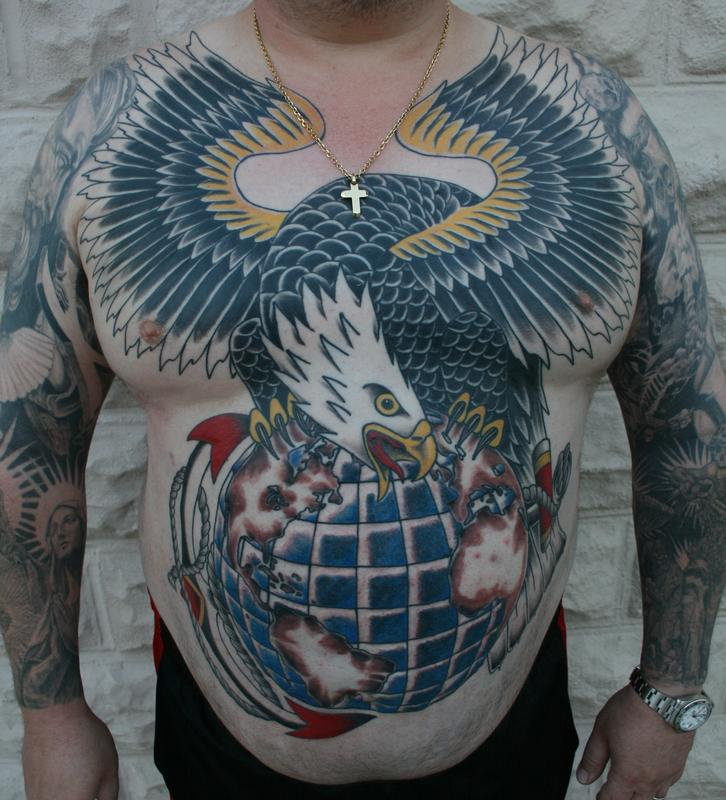 USMC Eagle by Larry Brogan : Tattoos