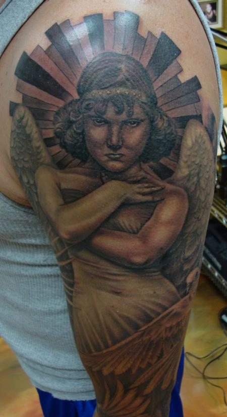 Tattoos - Heavenly Angel- Close up - 99072
