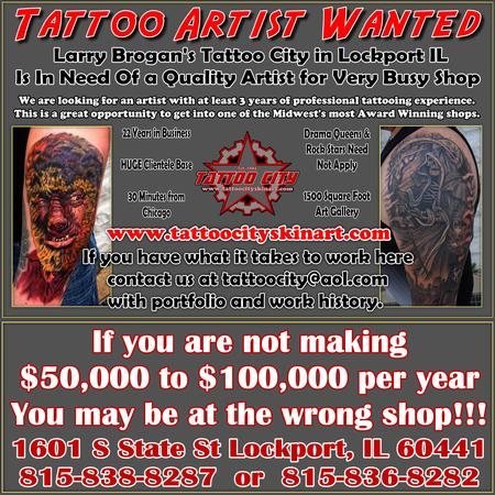 Larry Brogan - Tattoo Artist Wanted