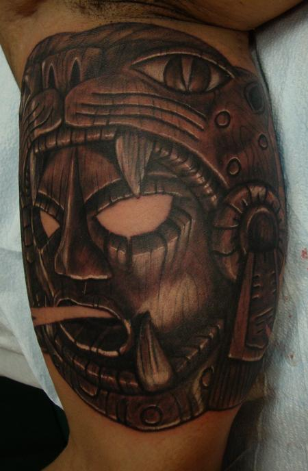 Tattoos - Aztec Mask - 113995