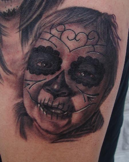 Tattoos - Baby Day of the Dead Portrait - 106690