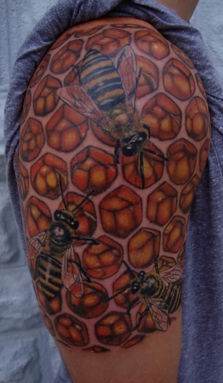 Tattoos - Bee Hive Tattoo - 106455