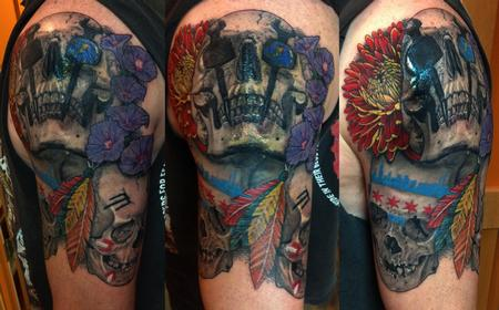 Larry Brogan - Chicago Blackhawks Iron Worker Skulls