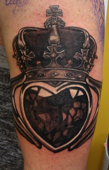 Claddagh close up Tattoo Design Thumbnail
