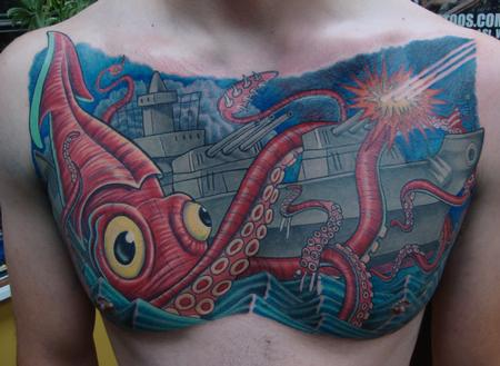 Tattoos - Giant Squid Vs Battleship - 99029