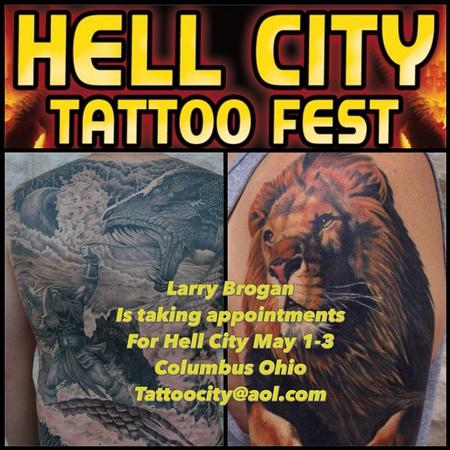 Hell City 2015 Poster Tattoo Design Thumbnail