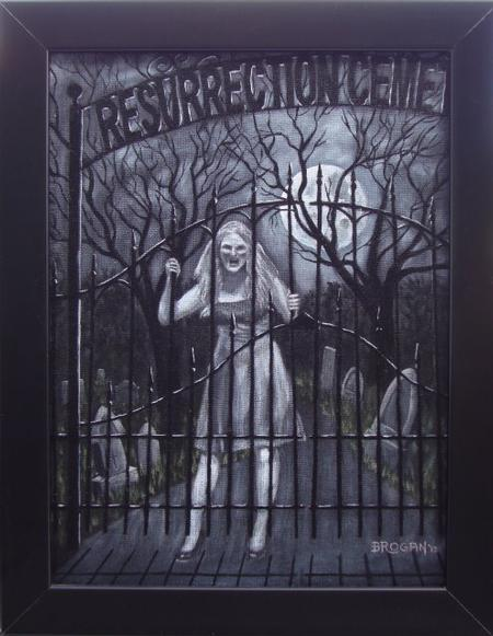 Larry Brogan - Resurrection Mary Ghost painting by Larry Brogan