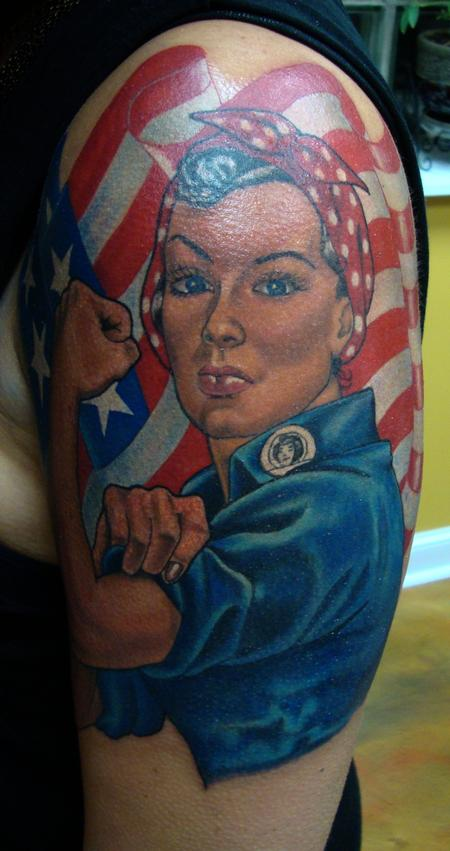 Tattoos - Rosie the Riveter - 98682