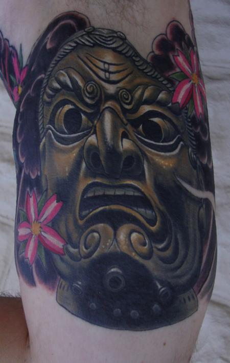 Tattoos - Japanese Samuari Mask - 98334
