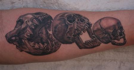 Skull Eat Skull Eat Skull Tattoo Design Thumbnail