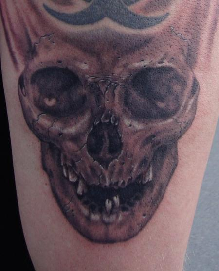 Tattoos - Skull with Missing Teeth - 100028