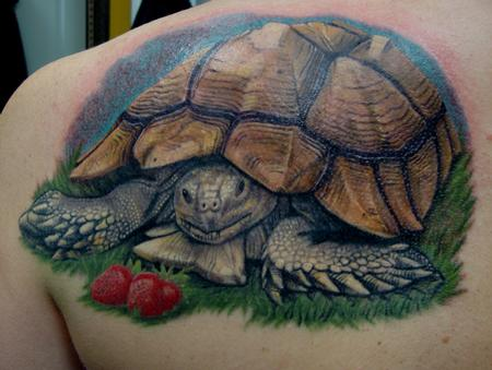 Happy Little Tortoise  Tattoo Design Thumbnail