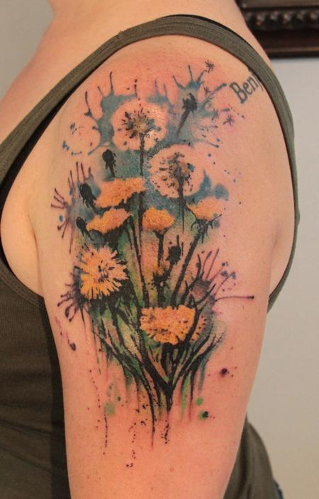 Dandelion Tattoo Tattoo Design Thumbnail