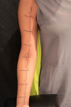 Gene Coffey - EKG Tattoo