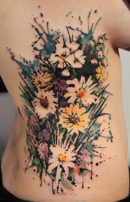 Flowers And Mess Tattoo Design Thumbnail