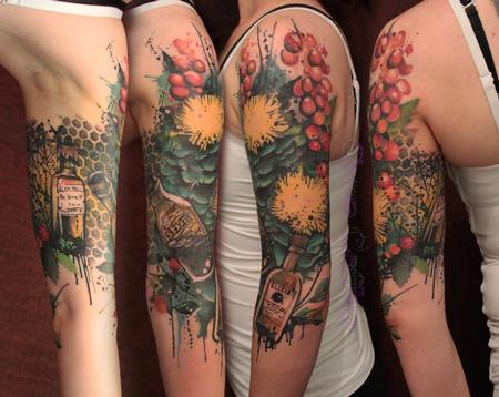 Tattoos - Herbs and Elixirs Half sleeve cover up - 77626