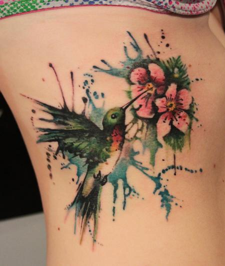 Gene Coffey - Hummingbird Blossom Tattoo